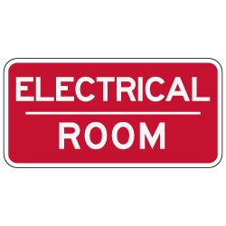 Electrical Room Sign 12x6 Stopsignsandmore Com