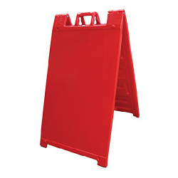 Red Portable Two-Sided A-Frame Sign Holder - Fits Signs Up To 24X36