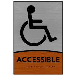 ADA Signature Series Accessible Sign With Tactile Text and Grade 2 Braille - 6x9