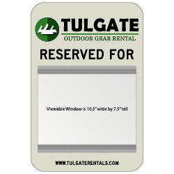 Custom Parking Sign with Large Changeable Name Holding Slot - 12x18 - Reflective Rust-Free Heavy Gauge Aluminum - No Extra Charge for Full Digital Color