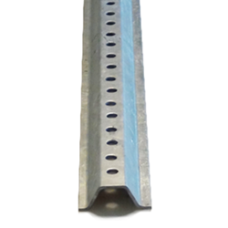 6-Foot Galvanized U-Channel Sign Posts - Medium Gauge