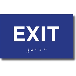 ADA Compliant Exit Signs with Tactile Text and Grade 2 Braille - 5x3