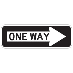 R6-1R One Way( Right Arrow) Signs - 24x8
